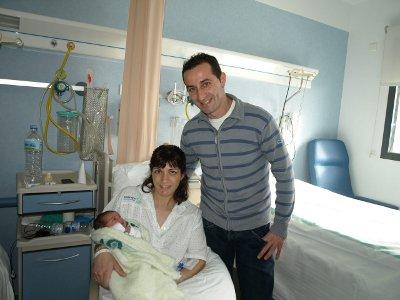 Marta, la primera niña nacida este año en la provincia de Ciudad Real