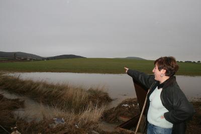 Las últimas lluvias y el deshielo causan estragos en Villamayor de Calatrava