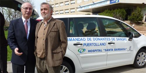La Junta dona un vehículo de apoyo a la Hermandad de Donantes de Sangre de Puertollano