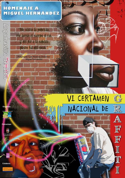 Miguel Hernández será  el tema del 'VI Certamen Nacional de Graffiti' de Argamasilla de Alba