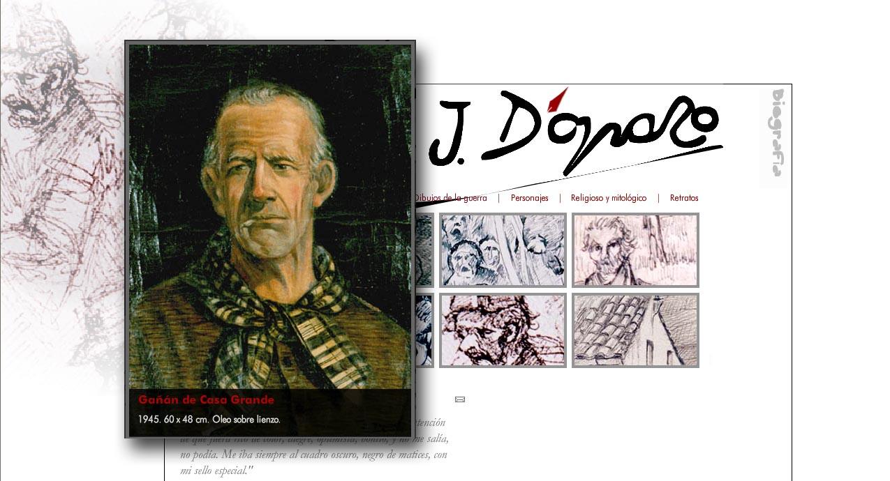 Imagen de la web dedicada a D'Opazo