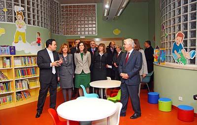 González-Sinde y Barreda, durante la inauguración de la Biblioteca