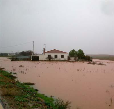 Imagen de las inundaciones de ayer