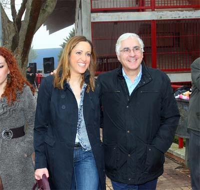 Cristina Maestre y José María Barreda, ayer