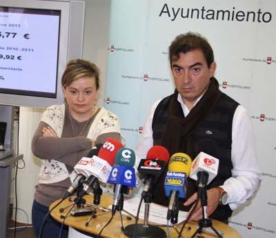 Hermoso Murillo, ayer, durante la presentación de los presupuestos