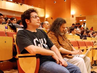 Stallman (derecha), con Cleto Martín