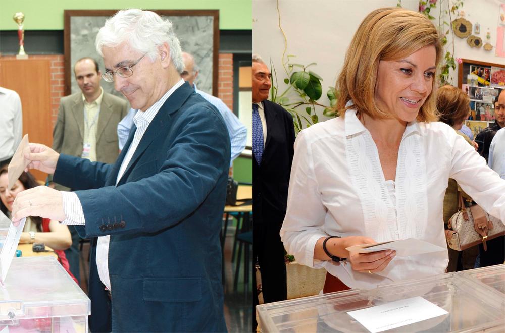 José María Barreda y María Dolores Cospedal