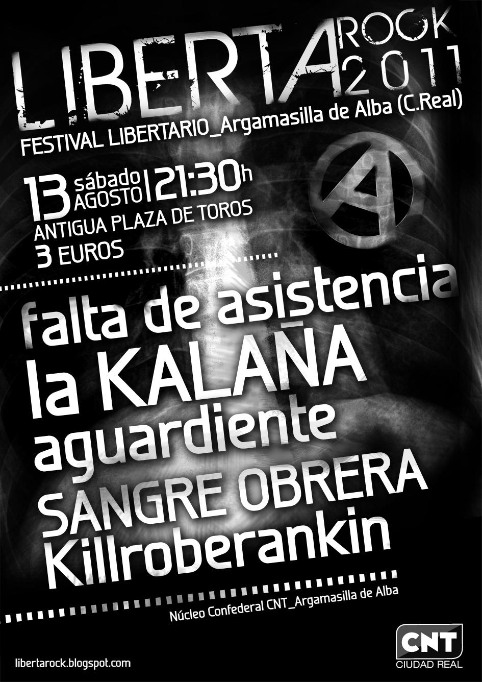CNT organiza el festival Libertarock 2011 en Argamasilla de Alba
