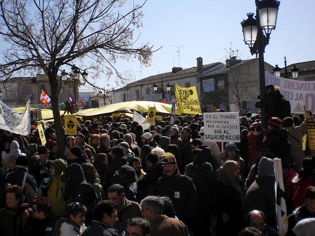 Miles de personas se dan cita en Villar de Cañas para rechazar el ATC y reclamar un sistema energético limpio y sostenible
