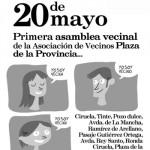 La asociación de vecinos Plaza de la Provincia celebra su primera asamblea