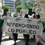 CSI·F anuncia movilizaciones y paros contra los recortes en la función pública