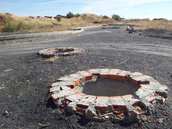 Obras inacabadas en el Abulagar (foto de archivo 2012)