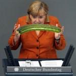 Merkel sorprende al Bundestag con un fabuloso calabacín