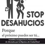 Nace la Plataforma de Afectados por la Hipoteca en Ciudad Real para luchar contra la pesadilla del desahucio