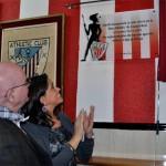 La alcaldesa de Ciudad Real inaugura la sede de la Peña del Athletic de Bilbao