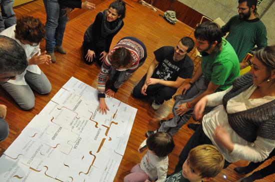 - Dinámica de grupo realizada durante la presentación -