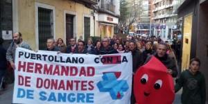 Manifestación de la Hermandad de Donantes de Sangre de Puertollano, celebrada el 28 de diciembre de 2012