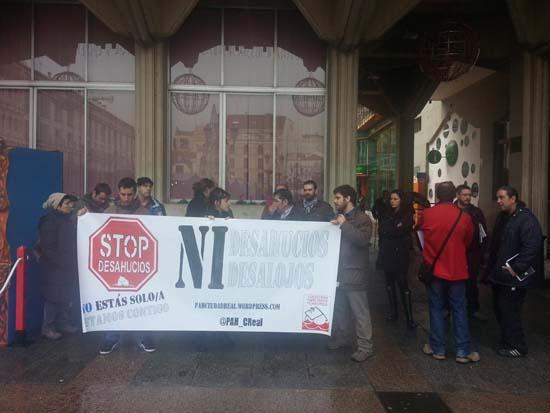 Protesta durante la que se produjo la sanción