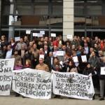 Los alcaldes socialistas se concentran para reclamar al Gobierno de Cospedal el pago de la deuda de la Junta mantiene con sus ayuntamientos