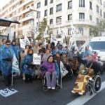 Más de ochenta discapacitados de la provincia de Ciudad Real participaron en la marcha SOS Discapacidad
