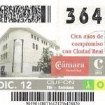 A la venta el cupón especial de la ONCE dedicado al centenario de la Cámara de Comercio de Ciudad Real