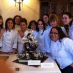Bolaños de Calatrava: Alumnas de Escuela de Hostelería Efa La Serna ganan el segundo premio amateur del Concurso Europeo de Montajes en Chocolate