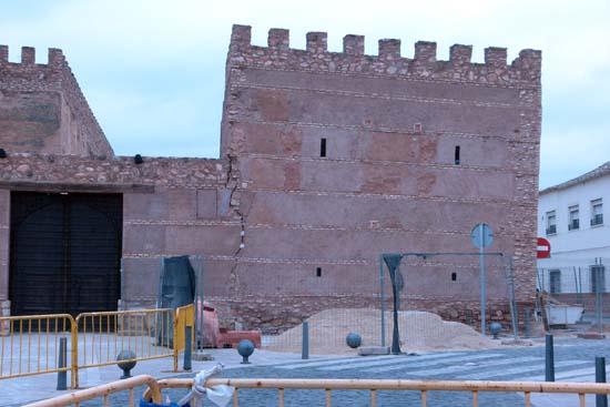 El torreón, antes de su demolición