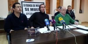 Los portavoces de la Banda de Música de Puertollano, en rueda de prensa