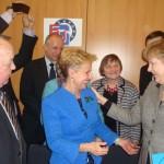 Quintanilla y la ESU exponen a Merkel las necesidades y preocupaciones de los mayores