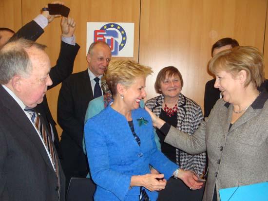 Quintanilla con Merkel