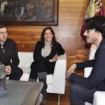 Rosa Romero recibe al productor ciudadrealeño ganador de un Goya, José Luis Matas-Negrete
