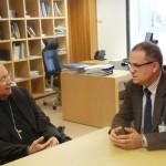 El gerente del Hospital de Ciudad Real se reúne con el obispo Algora