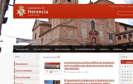 herencia pantalla web