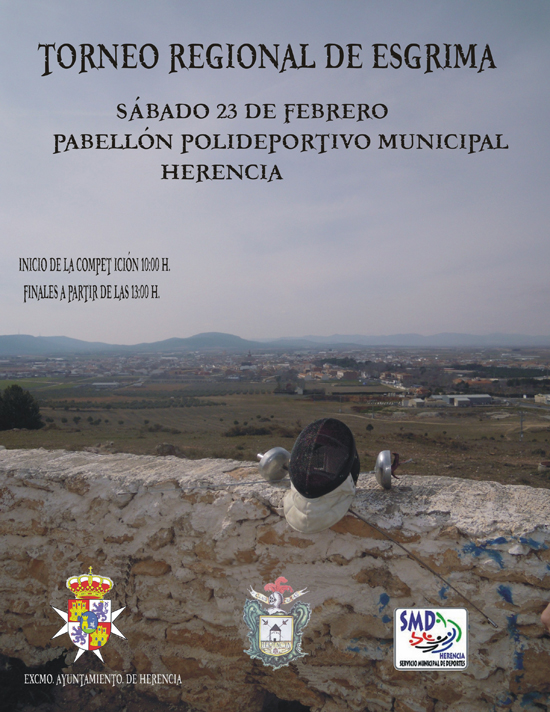 Herencia acoge este sábado 23 el Torneo Regional de Esgrima de Castilla-La Mancha