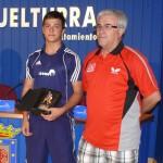 Los miguelturreños Javier Benito, Sofía Barba y Jaime Vidal participan en el Campeonato de España de tenis de mesa