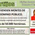 Juventudes Socialistas difunde un manifiesto en contra de la venta de los montes públicos