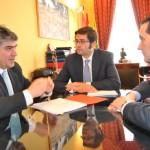 El consejero de Hacienda Arturo Romaní visitó el Ayuntamiento de Tomelloso