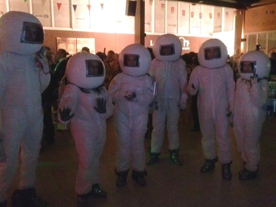 Unos astronautas muy salados enamoraron en el Concurso de Pandillas en Torralba de Calatrava