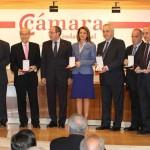 La Cámara de Comercio distingue en su centenario a  Junta de Comunidades, Diputación, ICEX, Félix Solís y García Baquero