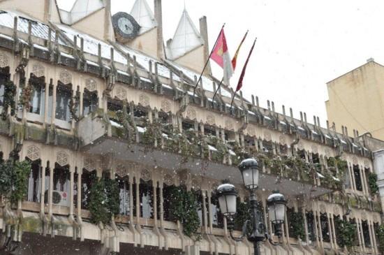 Ayuntamiento de Ciudad Real nevado