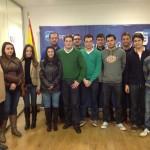 Alberto Valdelomar, candidato en el X Congreso de Nuevas Generaciones, visita las juntas locales de la comarca de La Mancha