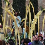 Daimiel: El cardenal Carlos Amigo preside la procesión de la «Borriquilla»