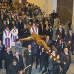 Vía Crucis Magno organizado por la Junta de Hermandades de la Semana Santa de Daimiel