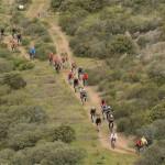 La primera ruta en bicleta de montaña de la Diputación contó con la participación de más de 80 corredores