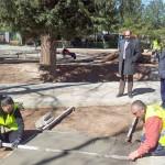 Sánchez Bódalo visita en Herencia un taller de empleo subvencionado por la Diputación