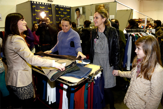 Carmen Casero en la Feria del Stock de Tomelloso