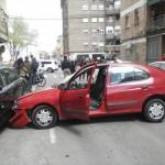 Aparatoso accidente de tráfico en la calle Pedrera Alta de Ciudad Real