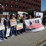 Residentes y trabajadores de las residencias universitarias de Ciudad Real se manifiestan contra su privatización