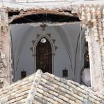 «Milagro» en Manzanares: Cae parte del tejado de la ermita de la Veracruz sin producir víctimas
