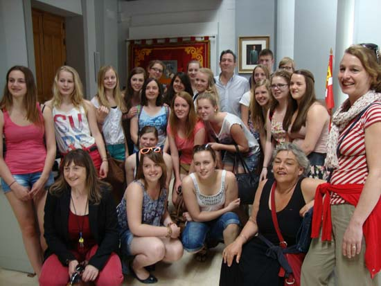 Foto alumnas holandesas y ayto